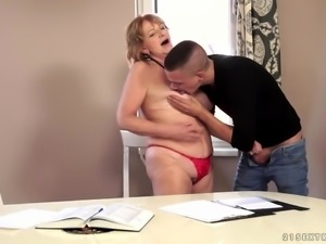 GILF Teacher and her younger student