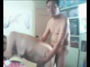 Old Asian Couple Getting It On