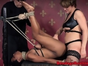 Asian sub straponfucked until she squirts
