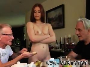 Old masturbation watching Minnie Manga licks breakfast with