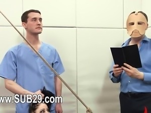 sweet BDSM anal action in gangbang