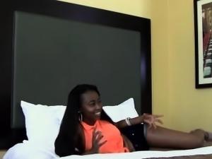 Black teen hooters jizzed