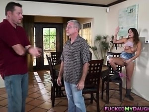 Busty babe Charlotte Cross bangs with a hot plumber