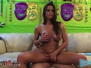 Sensual girl Rachel Roxxx reveals her hot curves and fucks a big dick