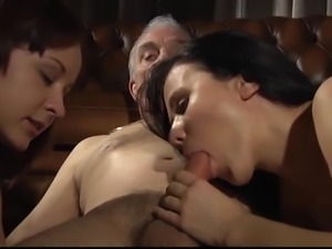Group sex hardcore double blowjob swallowing cum