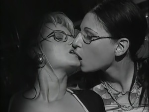 Girl in glasses gets drilled - vintage