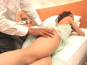 Skinny Asian amateur has her pink slit teased with a toy then fucked