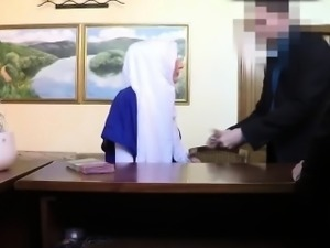Shy lovely Arab tourist banged hard by big throbbing dick