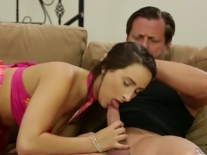 Seductive slim chick Ashley Adams goes wild on hard big dick