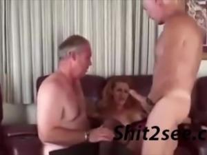 Old Dudes Fuck a lady, gang bang hot vintage