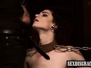 Cute tied up babe Lydia Black having rough bondage sex