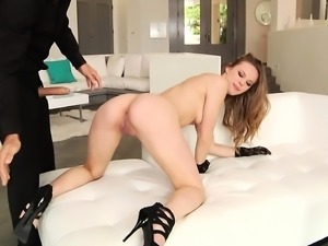 Lovely blonde Jillian Janson is introduced to a rough double drilling