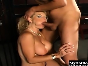 Stunning blonde starlet Vicky Vette gets us going with...