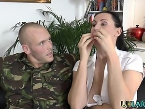 Anal british mature jizz