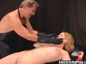 Charming blonde babe with big round tits Candi gets shocked and fucked
