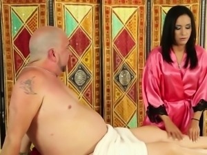 Ethnic masseuse jerks