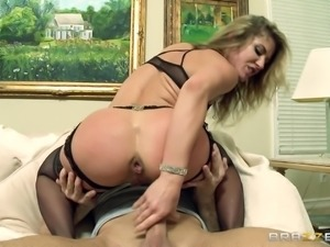 Amazing Sheena Shaw And Bill Bailey Have Anal Sex Over A Couch