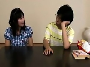 Pigtailed Asian cutie gets her cunt devoured and then blows