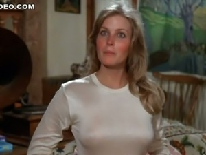 Perfect Blonde Bo Derek Exposes her Hot Rack In a Tight Shirt