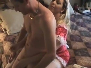 Amber Lynn Bach - Hot Maid gives Handjob