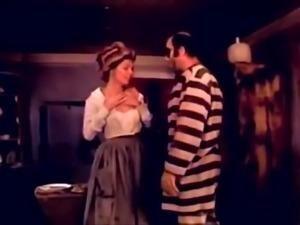 Classic Scenes - Barbara Bourbon Fucked by Prisoner