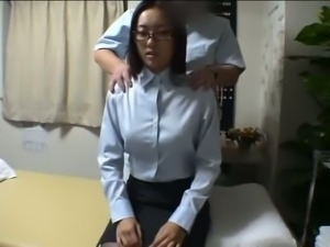 Japanese wife gets massged while husband waits 1