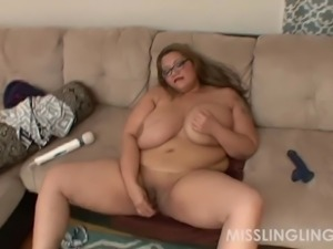 Busty Asian BBW Miss LingLing Pays With Pussy on Webcam