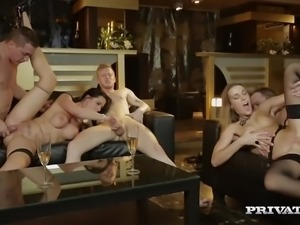 Alexis Crystal Loses Her Anal Virginity in an Orgy