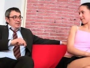 Elegant schoolgirl is tempted and nailed by her older lectur