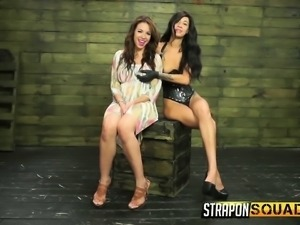 Bodacious redhead Kylie Rogue gets tied up and punished by Esmi Lee