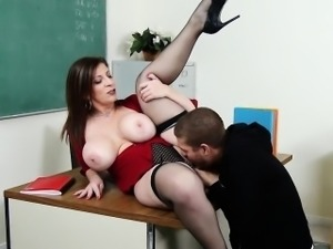Big Tits Teacher MILF Pussy Licked And Fucked Sara Jay
