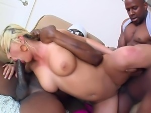 BLONDE FUCKED BY 2 BBC AND CUM IN BOTH ASS AND PUSSY