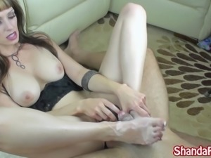 Kinky Milf Shanda Fay Wants You to Cream on her Feet!