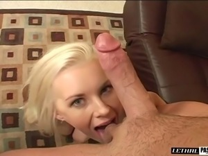 Brandi Edwards knows how to make her fellow's cock stiff