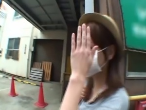 Cute Japanese looker Kaho loves pleasuring throbbing shafts