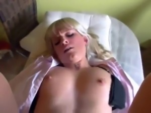 Babe fucked in the ass and creampied
