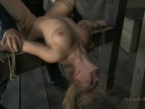 Torturing Lea's private areas and making her pay for her naughtiness
