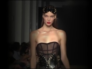 sexy topless models fetish fashion catwalk show