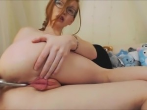 Smokin Hot Redhead Creams All Over and Squirts