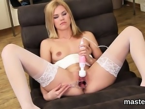 Horny czech girl spreads her wet hole to the peculiar