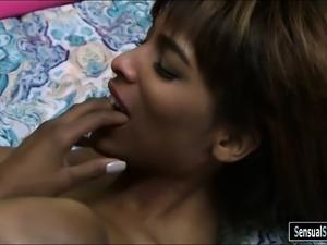 Big boobs black shemale Natissa Dreams asshole screwed