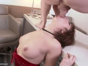 Seductive MILF Angelin Joy fucked damn hard doggystyle