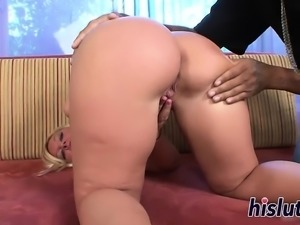Sexy honey has her big butt creamed