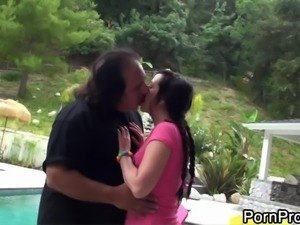 Lindy Lane simply loves riding on Ron Jeremy's throbbing boner