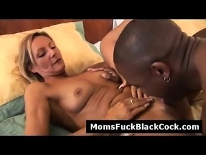 Horny brunette MILF Ginger Spice pounded by big black cock