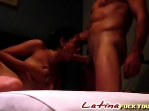 beautiful busty latina babe fucked hard in her ass and pussy