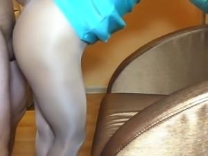 Chinese milf pantyhose sex
