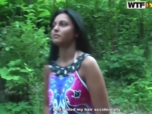 Exotic girlfriend loves banging in the nature