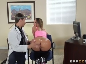 Two magnificent babes in the doctor's office need sex consultation