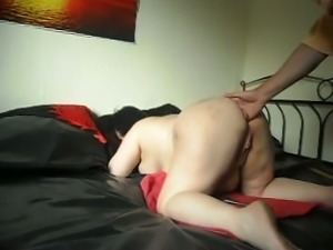 Extremely fat disgusting bitch with huge ass was fucked with lots of toys
